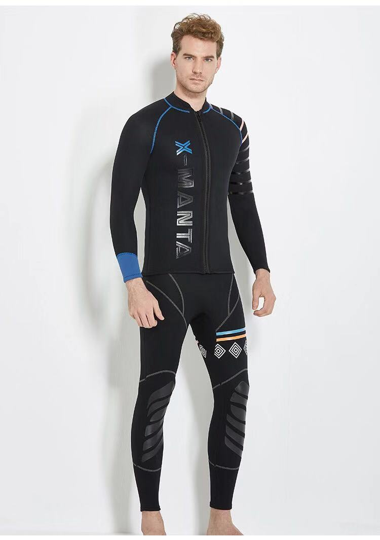 Dive&Sail men's 3mm diving wetsuit jackets diving pants long sleeve diving suit Scuba Jump Surfing Snorkeling Wetsuits