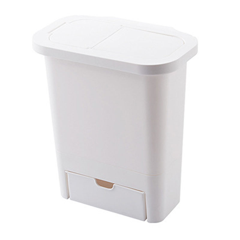 Hanging Trash Can with Lid Kitchen Cabinet Door and Wall-Mounted Waste Baskets 1