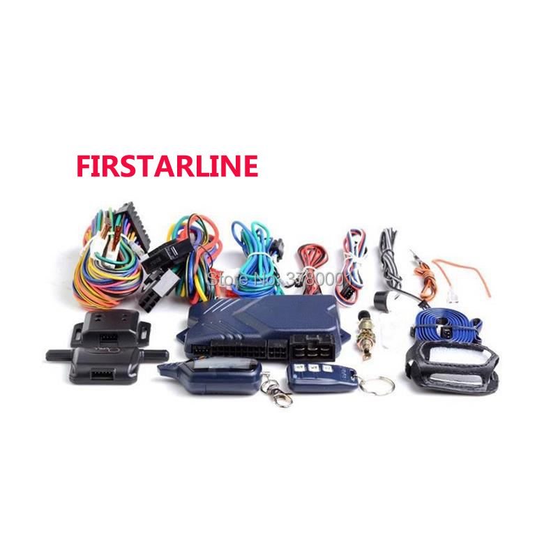 FIRSTARLINE B 9 Only For Russian Version Twage StarLine B9 2 Way Car Alarm System+ Engine Start LCD Remote Control Key Keychain