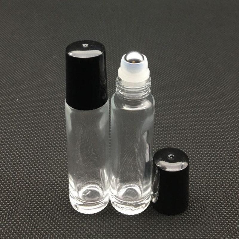 1pcs 10ml Roller Glass Bottle Clear Empty Fragrance Perfume Essential Oil Vial 10ml Roll-On Bottles