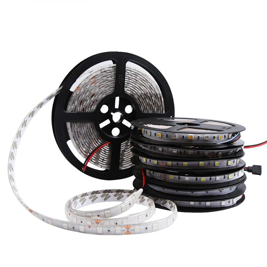 DC 12V Led Light Strip RGB 5050 1M- 5M Not Waterproof 60Led/m DC 12V Led Strip Light RGB Tape Lamp Diode Flexible TV Backlight