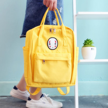 New Korean version of the shoulder bag no face male backpack Harajuku style couple bag female middle school students canvas bag simple canvas backpack japan and south korea version of the bag men s youth campus students travel shoulder bag