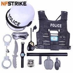 Fingir jogar brinquedos da polícia conjunto para crianças crianças simulação policial role play kits de brinquedo para meninos jogando conjunto