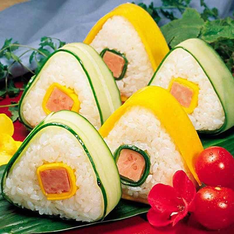 2 قطعة البلاستيك الثلاثي السوشي كرة الأرز قالب آلة Onigiri قالب مجموعة المطبخ الديكور الاشياء الأدوات شفافة بينتو صندوق