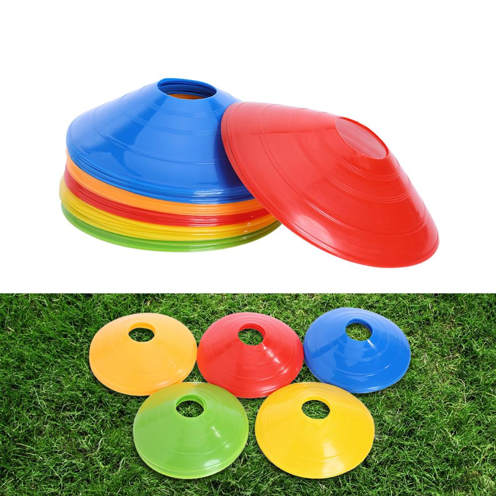 50pcs/lot Football Training Cones Marker Discs Soccer High Quality Sports Saucer Entertainment 20cm PVC Sports Accessories