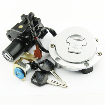 Motorcycle Ignition Key Switch Fuel Gas Cap Seat Lock Kit For Honda CBR1000RR CB600F HORNET
