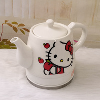 Creative cute ceramic electric kettle cartoon kettle quick pot home automatic water pot enamel boiling kettle living room