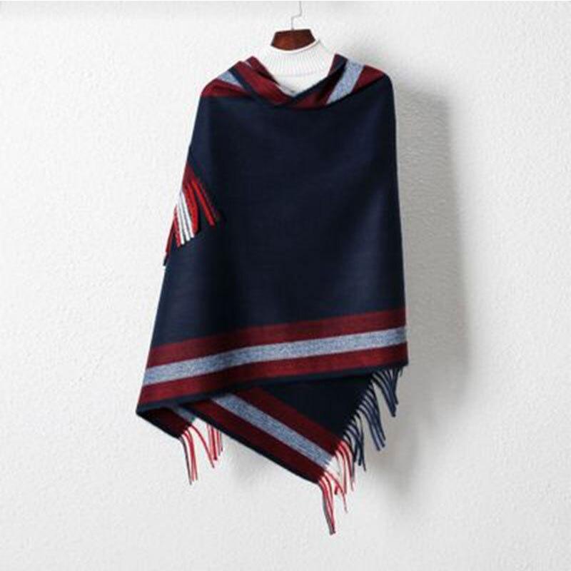 Bufanda de cuello de marca de lujo de 2019, bufandas tejidas de lana de Cachemira para mujer