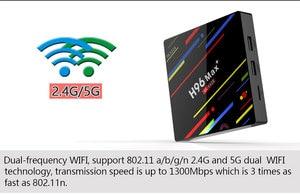 Image 3 - Wechip H96 ماكس زائد تي في بوكس أندرويد RK3328 4GB 64GB مشغل الوسائط دعم جوجل صوت عن بعد واي فاي تعيين صندوق علوي HD OTT الذكية