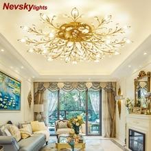 Moderne decke licht für wohnzimmer led Kristall decken lampe schlafzimmer kristall lampen esszimmer gold loft beleuchtung Kristall Leuchten