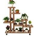 Воздушная Крытая твердая древесина цветочный горшок рамка для гостиной Многоэтажный Тип Посадки Botany Горшечное растение Балконная полка пр...
