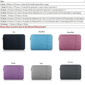 "Image 5 - Laptop Sleeve Bag Case for  Apple Macbook Pro 13"" 15 A1707 A1708 Nylon Laptop Sleeve Bag for Mac book Air 13.3 Bag for Xiaomi"