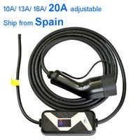Chargeur de voiture électrique EVSE ev niveau 2/AC 220-280V 20A Type1 SAE J1772 ou type 2 chargeur avec entrée de prise murale ue