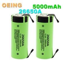 Batteries rechargeables lithium-ion pour Panasonic 26650A, 2021, 100%, 3.7, 5000 V, 26650 mAh, haute capacité, DIY Nickel