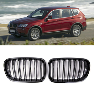 1 Pair Front Kidney Grilles Matte Gloss Black For BMW X3 F25 2010-2013 Replacement Racing Front Bumper Grilles Car Styling