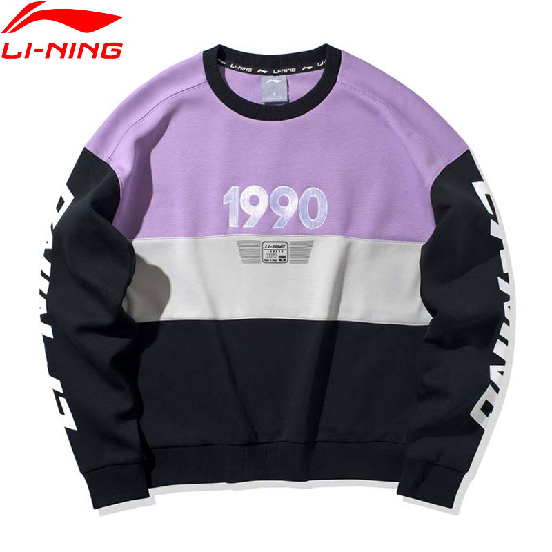 Li-Ning Women The Trend Sports Hoodie Knit Top Loose Fit 63% Cotton 37% Polyester LiNing Li Ning Sport Sweater AWDQ088 WWW1078