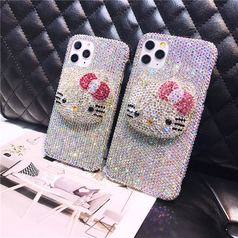 Full Bling Crystal Diamond Super Cute 3D Cartoon Case Cover For Samsung Galaxy Note 20 10 9 8 S20 FE S21 Ultra S10E/9/8 Plus