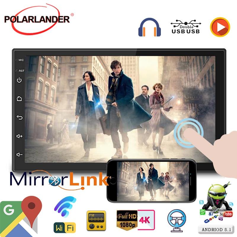 Mirrorlink GPS Nevigation multimédia WIFI-Link Auto-radio application-téléchargement 2din 7