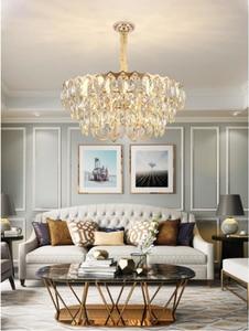 Image 4 - Crystal chandelier living room luxury modern villa simple creative designer American bedroom dining room lamps