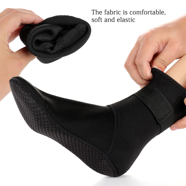 3mm Neoprene Diving Socks Non-slip Beach Boots Wetsuit Shoes Snorkeling Diving Surfing  4