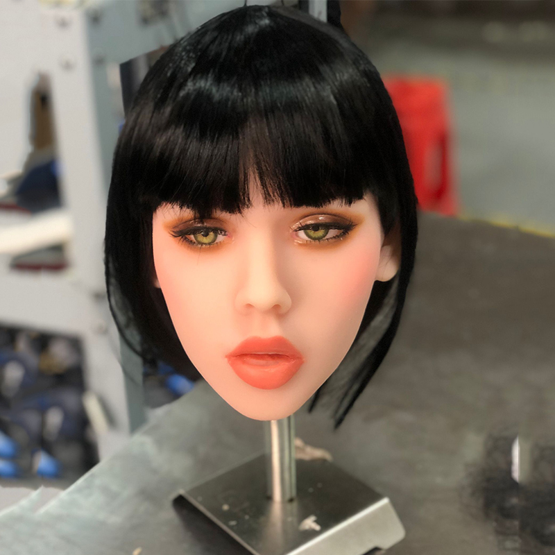 TPE <font><b>Doll</b></font> Head with m16 Connector Silicone <font><b>Doll</b></font> Head Mold for Big Size Love <font><b>Dolls</b></font> 135cm-<font><b>176cm</b></font> Love <font><b>Doll</b></font>-Customized Skin Tone image