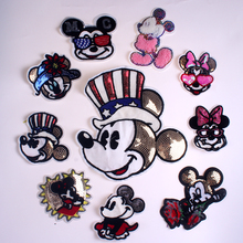 Pulaqi Cartoon Mouse patch DIY Embroidered patches for Clothing Sewing On Patches For Clothes Cute Patch Applique on