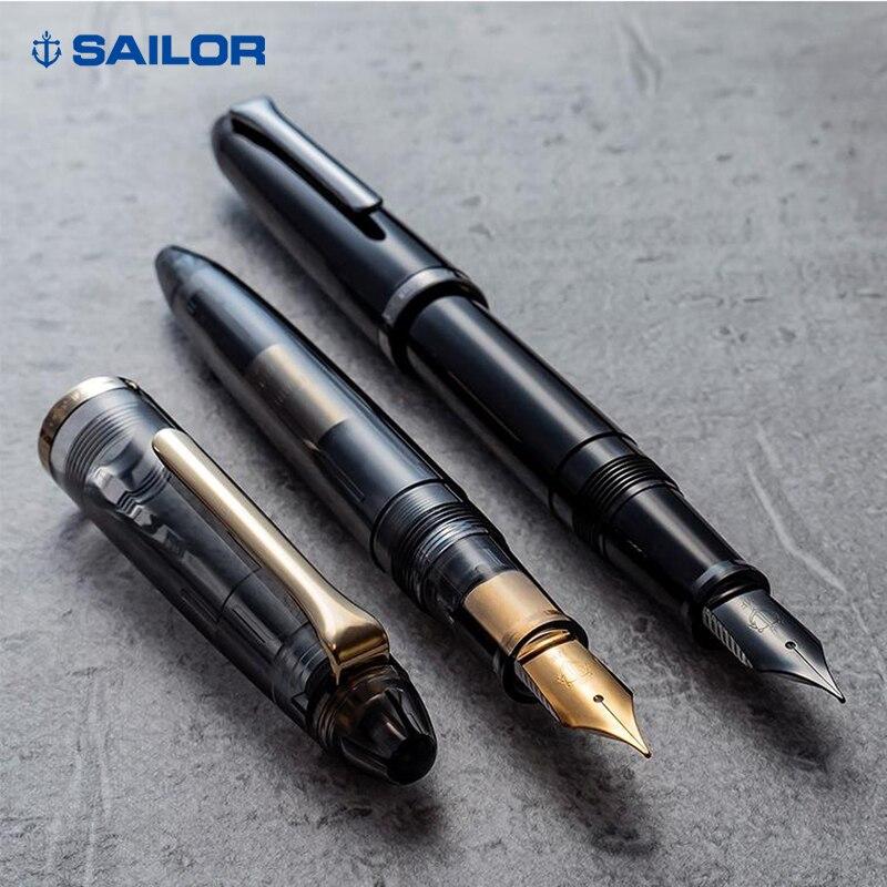 Japan sailor fountain pen KUROGANE JUNIOR transparent stainless steel nib gray12-0395