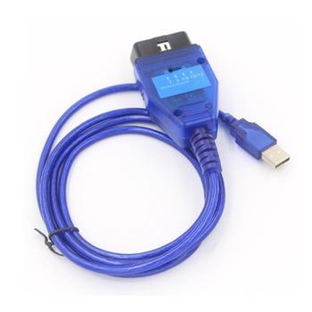 FTDI Chip Auto Car OBD 2 Diagnostic Cable for VAG USB for Fiat USB Interface Car Ecu diagnostic scanner for car professional ecu chip tunning tool vag tacho 5 0 usb with usb dongle v 5 0 vag tacho for nec mcu 24c32 or 24c64 free shipping