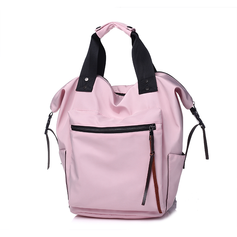 YYW Large Capacity Backpack Women Casual Hand Bags Pink Grey Teenager Girl Shoulder Female Bagpack Size Travel