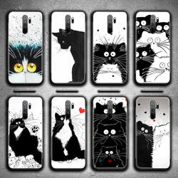 Искусство Черный и белый цвета cat Чехол для телефона чехол-накладка для Redmi Note 9 8 8T 8A 7 6 6A экшн-камеры Go Pro Max Redmi 9 K20 K30 Pro
