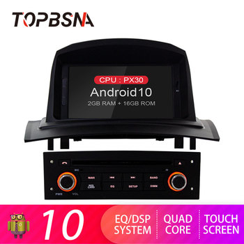 TOPBSNA Android 10 Car Radio Player For Renault Megane 2 Fluence 2002-2008 WIFI Multimedia GPS Stereo 2 Din Car Radio Video Auto image