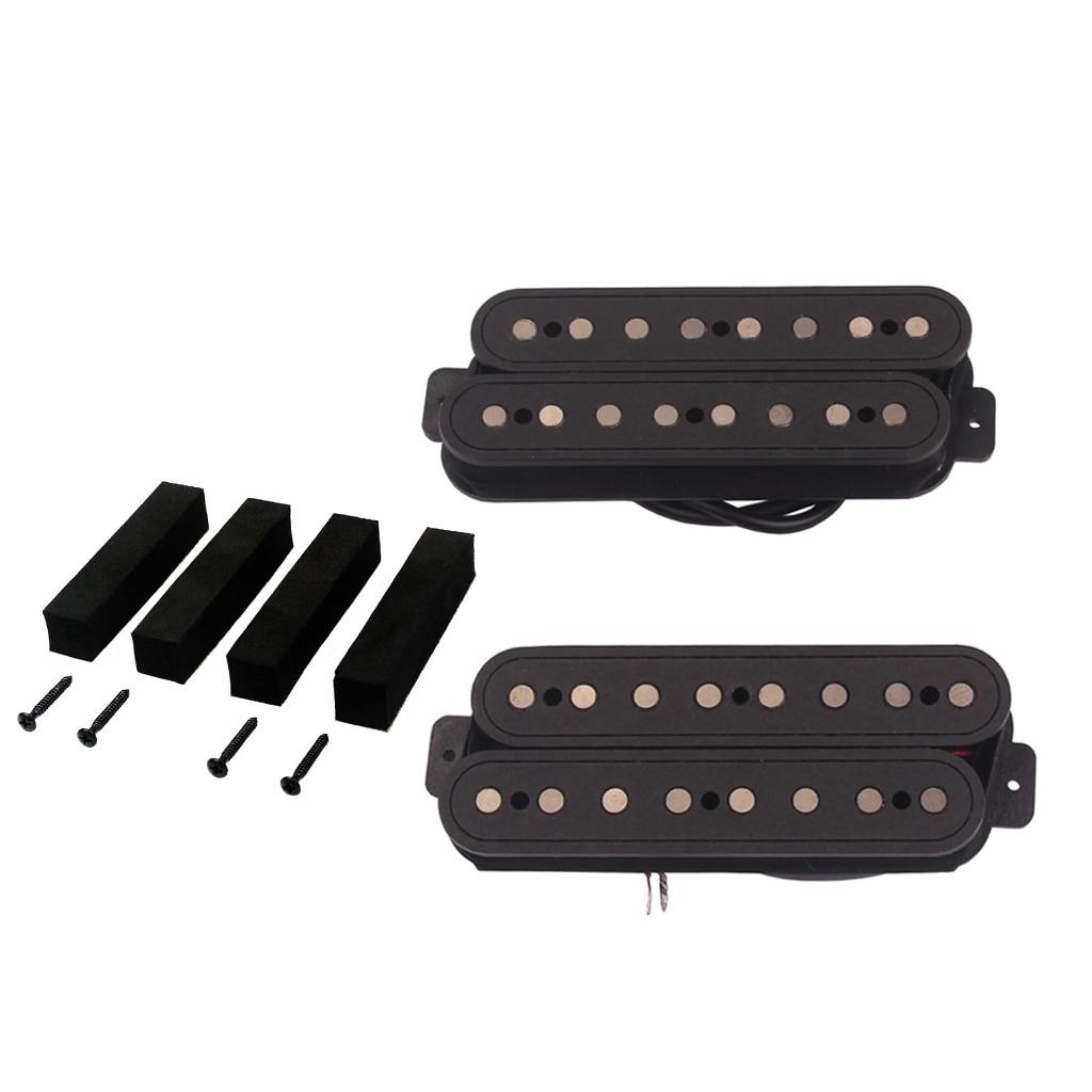 1 jeu 8 cordes col pont Humbucker pick-up Alnico V avec vis pour guitare électrique