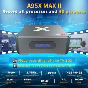 Image 2 - A95X MAX X2 Android 8.1 TV, pudełko 4GB 64GB Amlogic S905X2 2.4G i 5G Wifi BT4.2 1000M obsługa pudełka Smart TV TV, pudełko obsługa nagrywania wideo dekoder