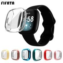 FIFATA ТПУ полная защитная крышка для экрана чехол для Fitbit Versa 3/чувство Смарт-часы бампер оболочки чехол s Для Fitbit Versa3/чувство