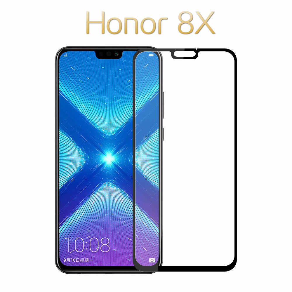 Huawei honor ため 8X 強化ガラス 9D huawei honor 用 8x 8a 8c プロガラス強化保護フィルム