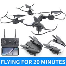 D8 4-CH Foldable Drone HD Helicopter with Light 6-axes Gyroscope Fixed High Folding Gesture Camera Remote Control Aircraft 30W