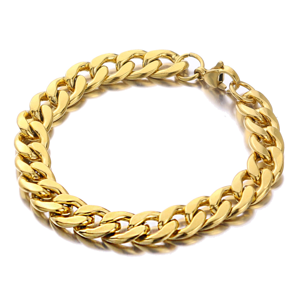 Stainless Steel Bracelet 5/7/9/11mm Curb Link Chain Stainless Steel NK Chain Diy Jewelry Bangle for Men Women High Quality Gift|Chain & Link Bracelets| - AliExpress