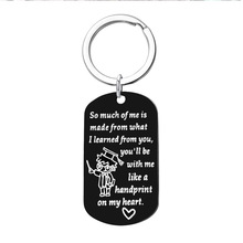Stainless steel custom lettering keychain, military brand dog tag pendant key chain jewelry wholesale custom custom dog tag photo keychain stainless steel engraved photograph text diy key chain for love dog keepsake