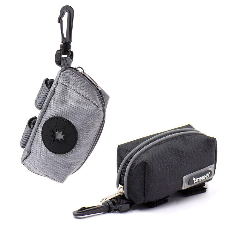 Portable Pet Waste Dog Poo Puppy Pick-Up Bags Pet Poop Bag Holder Hook Pouch Convenient
