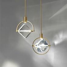 Luces colgantes LED minimalistas posmodernas, luminarias de cristal nórdico para comedor y sala de estar, lámpara de mesita de noche para dormitorio, Cabeza colgando individual