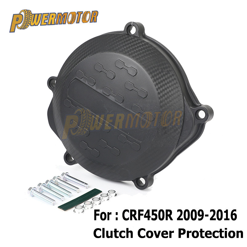Motorcycle Plastic Clutch Cover Guard Protector For Honda <font><b>CRF450R</b></font> CRF 450R <font><b>2010</b></font> 2011 2012 2013 2014 2015 2016Dirt Bike Motocross image