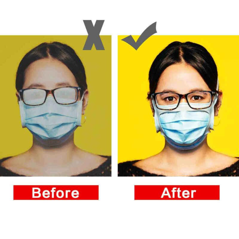 GGGG 【US Fast Shipment】 15PCS Prevent Eye Glasses from Fogging Face Bandanas Bracket Inner Support Frame,Anti Fog Silicone Nose Bridge for Sports Running Athletics