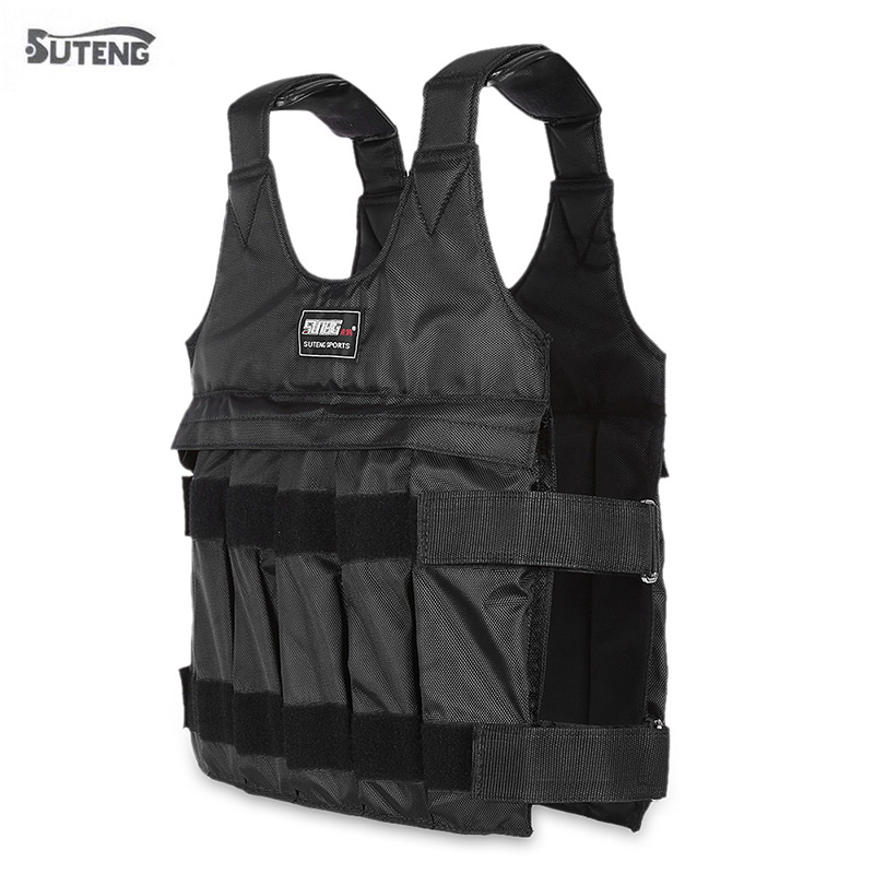 New 20/50 Kg Loading Weighted Vest Jacket Load Weight Vest Exercise For Boxing Training Fitness Equipment For Running
