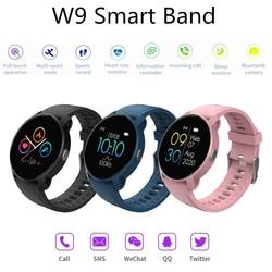 W9 Smart Armband Frauen Smartwatch 2020 Sport Fitness Smart Uhren Zeit Monitor Herzfrequenz Monitor Volle Bildschirm Wasserdicht