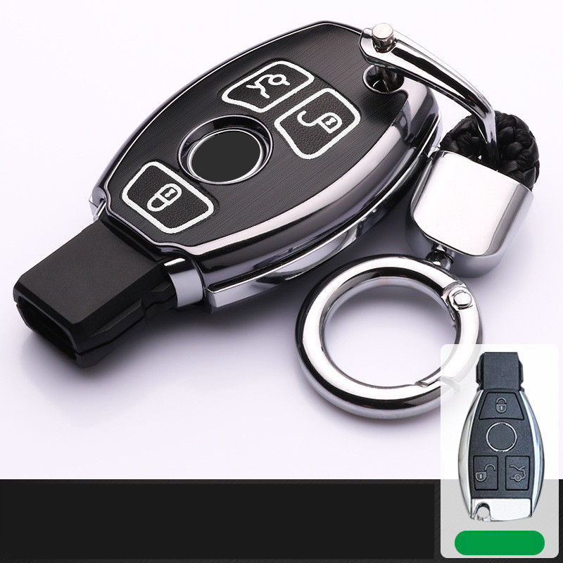 Luminous alloy Car Key Cover Case For Mercedes Benz W203 W204 W212 C180 GLK300 CLS CLK CLA SLK AMG Accessories Retro Key Set Bag image