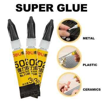 3PCs Deli 7146 Super Glue 502 Instant Adhesive Super Glue 3 G/pcs Suitable for Wood-Plastic Metalic Glue Silencer Material permatex pr 82191 super glue