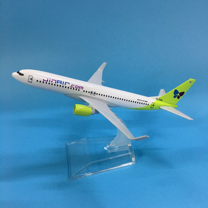 JASON TUTU 16cm Korean JINAIR Boeing 737 Plane Model Airplane Model Aircraft Model Diecast Metal 1:400 Airplanes Plane Toy Gift