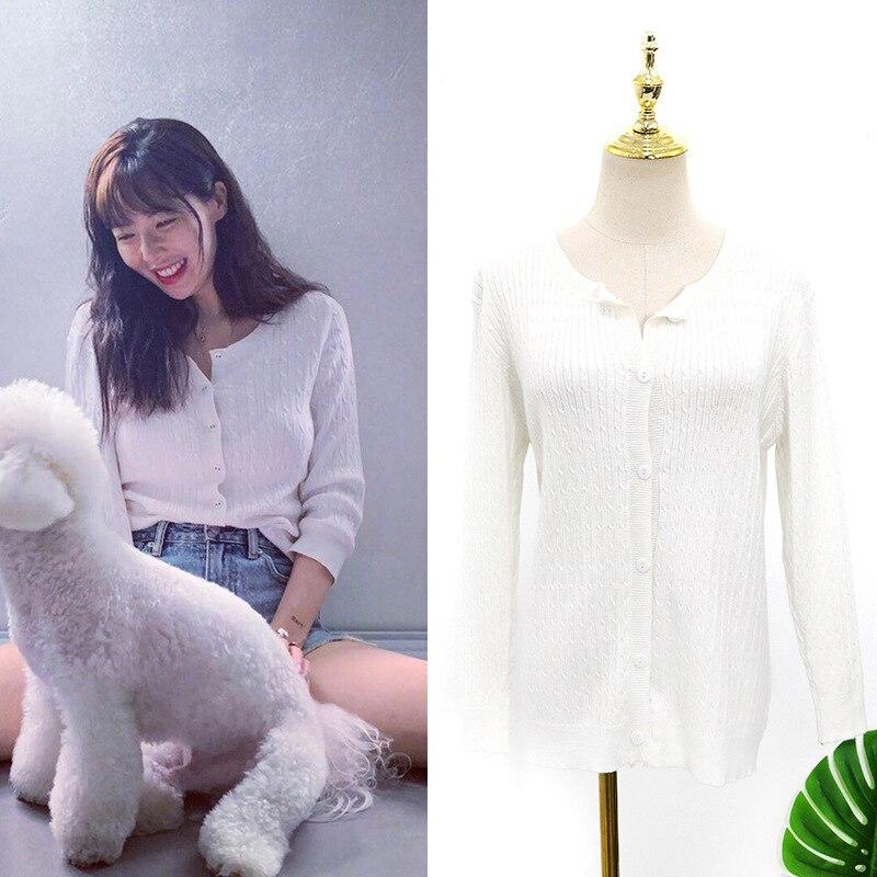 Kpop 4Minute Kim Hyun A same 2019 летние модные белые толстовки с круглым вырезом Женские Вязаные толстовки с длинными рукавами в стиле Харадзюку