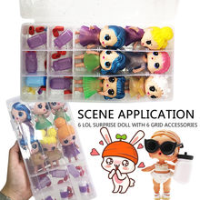 HIINST 2019 NEW HOT 18 Compartments Toy Storage Carrying Box Accessories For LOL Surprise Dolls Develop intelligence(China)