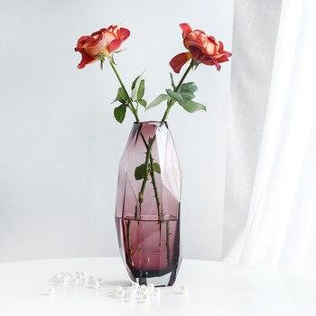 Nordic Irregular Geometric Glass Flower Vase Home Decoration Modern Art Flower Vase Plant Holder Desk Hydroponics Room Decor